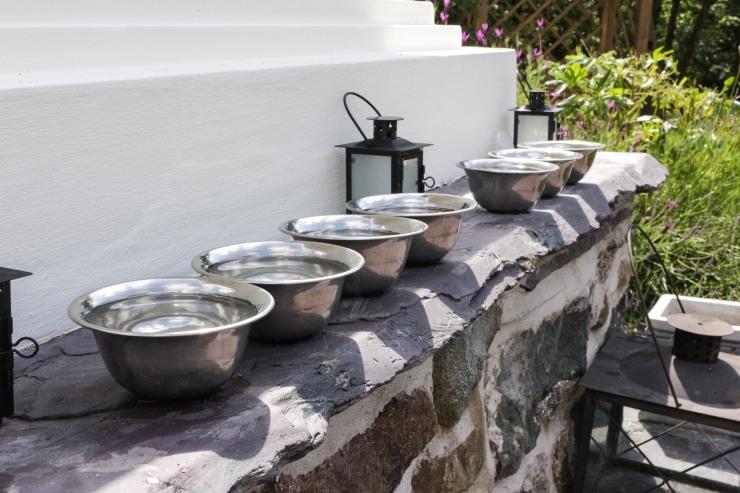 Tibetan Buddhist Offering Bowls